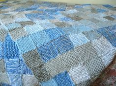 In 2012 I knitted a Sky Blanket  (though it took me until quite late in 2013 to finish sewing all the squares together!), choosing the colou...