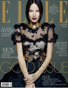 Danijela Dimitrovska Amidzic for Elle Serbia November 2012