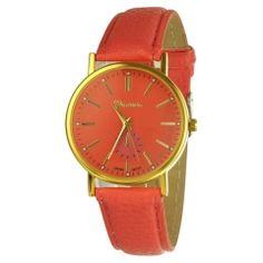 Zegarek malinowy cały prosty