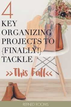 "Feeling a surge in ""organizing energy"" as the fall season approaches? Capitalize on that energy and commit to finally tackling these 4 key organizing projects that you've been putting off forever! College Organization, Small Space Organization, Home Organization Hacks, Organizing Your Home, Organizing Tips, Cleaning Hacks, Key Organizer, Autumn Inspiration, Getting Organized"
