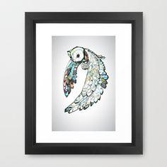 Owl Framed Art Print by Joshua T.Pearson