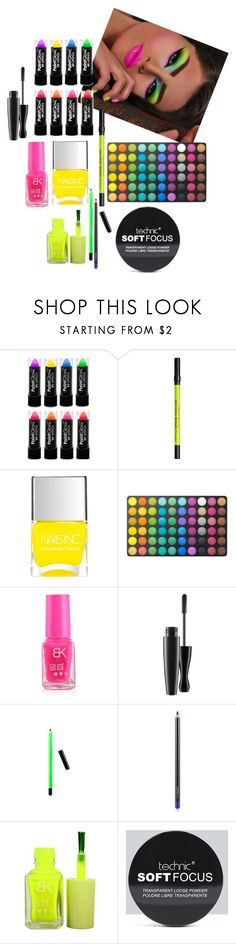 """""""Neon beauty"""" by fashionplanet01 ❤ liked on Polyvore featuring beauty, Urban Decay, Nails Inc., BHCosmetics, MAC Cosmetics and Boohoo"""