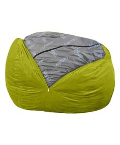 Lime Terry Cord Beanbag Chair Sleeper By CordaRoys