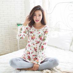 US $12.86 New Women Milk Silk Cotton Pajamas Sleepwear Sets Soft Pajamas Women Nightgown Fashion Style Pajamas Sets Pyjama Femme C2046 aliexpress.com