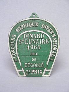 Authentic Vintage French Horseracing Award by Yesterdaysfrance, $21.00