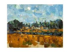 Giclee Print: River Banks, 1904-05 by Paul Cézanne : 24x18in