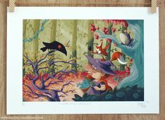 Whimsical art, Limited edition art print by Terrapin, Children's Book Illustration, Whimsical Art, Limited Edition Prints, Childrens Books, Witch Hazel, Etsy Shop, Art Prints, Toad