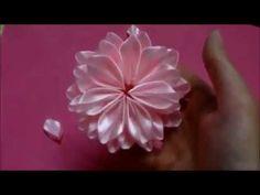 Passo a passo linda flor em fita de setim