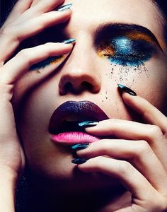 Artistic make-up - Blue eyeshadow