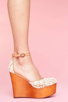 Bette Platform Wedge - Ivory