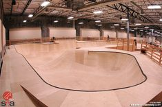 """It's hard to associate the word """"epic"""" with a wooden skatepark, but I think Team Pain may have in fact pulled it off. Epic I was skeptical when I heard some of the gushing about i… Halle, Backyard Skatepark, Roof Cap, Youth Center, Skate Park, Luxurious Bedrooms, Home Goods, Layout, Indoor"""