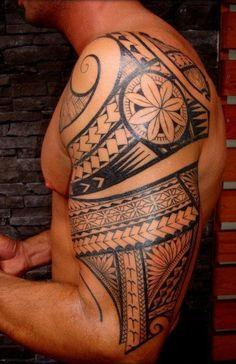 Tribal tattoo on arm