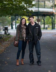 Tessa Virtue and Scott Moir, street style