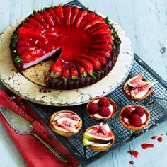 Strawberry mousse tart recipe - Woman And Home.. Bright with strawberry flavour, this allergy-friendly tart is light and delicious. Taken from Wholefood Baking...