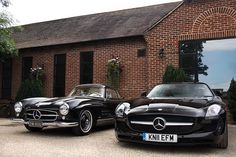 Mercedes SL300 & SLS. Old school vs new school...think they got their secret sauce right? #newclassic
