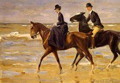 Max Liebermann - Reiter und Reiterin am Strand