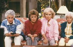(From left) Bea Arthur, Rue McClanahan, Betty White and Estelle Getty in 'The Golden Girls,' circa 1... - NBC/Getty Images