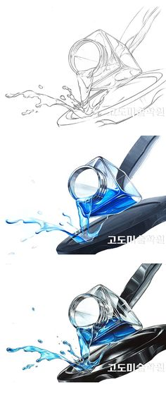 Expression of basic design objects / Kodo Academy of Fine Arts (Gangnam headquarters): bottle, fluid, glass, water. Water Bottle Drawing, Water Drawing, Bottle Painting, Drawing Skills, Drawing Techniques, Cartoon Drawings, Art Drawings, Sketchbook Assignments, Casual Art