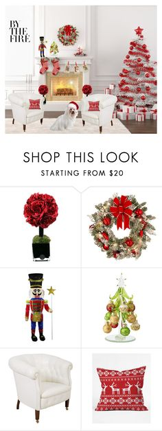 """""""Our First Christmas"""" by peppermintlauren ❤ liked on Polyvore featuring interior, interiors, interior design, home, home decor, interior decorating, Hervé Gambs, Improvements, Poltrona Frau and DENY Designs"""