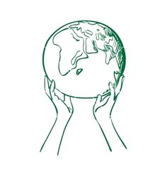 Doodle globe in women hands vector image on VectorStock Globe Vector, Color Quotes, Logo Design Inspiration, Global Volunteers, Mother Earth, Vintage Posters, Vector Art, Sustainability, Global Logo