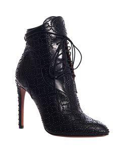 Azzedine Alaïa - Studded Lace Up Boot | Kirna Zabête