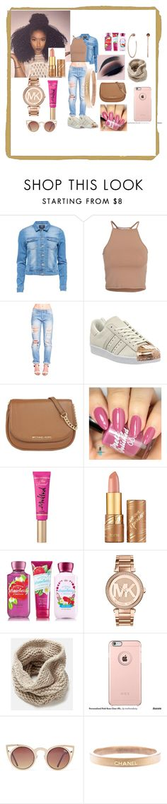 """# That Way.....<3 <3"" by savagelife01 on Polyvore featuring NLY Trend, adidas, MICHAEL Michael Kors, Too Faced Cosmetics, tarte, Michael Kors, Lafayette 148 New York, Quay, Chanel and women's clothing"