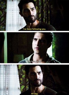 Teen wolf - Scott McCall and Derek Hale. You can follow me any time you want Derek