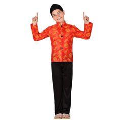Déguisement Chinois Rouge pour garçon #déguisementsenfants #costumespetitsenfants #nouveauté2016