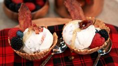 Maple Candied Bacon Ice Cream | Steven and Chris | This recipe does not require an ice cream maker or a lot of attention, but it does call for a whole lotta bacon!