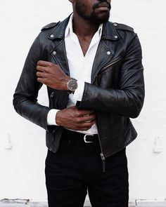 Friday Night - Dress good to feel good. Swiss Design, World Traveler, Men's Collection, Watches For Men, Your Style, Friday, Leather Jacket, Night, Jackets
