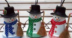 Flower Pot Crafts - Flower Pot Christmas Ornaments crafting-with-carrie