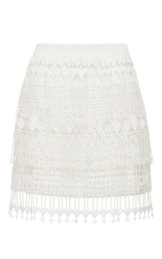 White Lace Skirt by Thurley