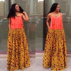 Maxi skirt designed by Kiki Zimba ~Latest African Fashion, African Prints, African fashion styles, African clothing, Nigerian style, Ghanaian fashion, African women dresses, African Bags, African shoes, Kitenge, Gele, Nigerian fashion, Ankara, Aso okè, Kenté, brocade. ~DK