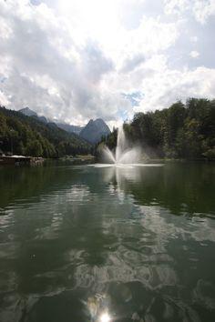 Sommer am Riessersee, Garmisch-Partenkirchen, Bayern - Bavaria, Germany, lake Riessersee