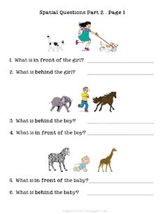 Ms. Lanes SLP Materials: Spatial Concepts-Questions about Object Locations 2 Worksheet. Pinned by SOS Inc. Resources. Follow all our boards at pinterest.com/sostherapy for therapy resources.