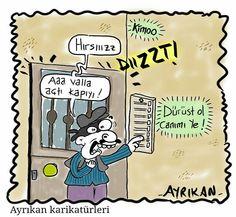 Dürüstlük Karikatürü Ayrıkan Karikatürleri