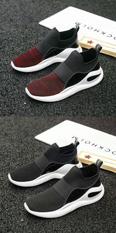 910798dd90e US  25.48 Prikol Brand Men Sports Shoes Summer Slip On Red Burgundy Grey  Comfortable Outdoor Tennis