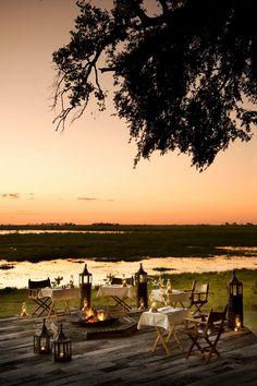 Al fresco dining in Botswana