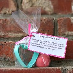 Playdough and Cookie Cutter Valentine from Buggy and Buddy