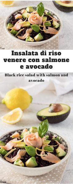 Discover recipes, home ideas, style inspiration and other ideas to try. Best Avocado Recipes, Salmon Recipes, Lunch Box Boxlunch, Vegetarian Recipes, Cooking Recipes, Healthy Recipes, Rice Salad Recipes, Salmon Avocado, Food Staples