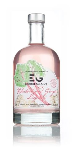 Edinburgh Gin's Rhubarb Liqueur - delicate pink colour looks so tasty! #ScotFood #Gin
