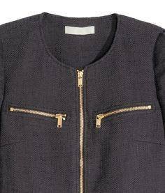 Textured Jacket | Dark gray | Ladies | H&M US