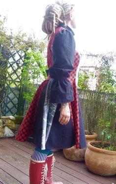 Handmade Einzelstück Mantelkleid Alternativ Rockabilly Stil, Punk, Fashion, Dress Skirt, Alternative, Moda, Fashion Styles, Punk Rock, Fashion Illustrations