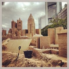 The Skyline of Frankfurt - completely made out of sand!