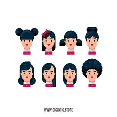 8 Hairstyles for Flat Design Character Illustration – Frauen Haar Modelle Flat Design Illustration, People Illustration, Character Illustration, Illustration Art, Adobe Illustrator, Illustrator Tutorials, Graphic Design Tutorials, Graphic Design Inspiration, Affinity Designer