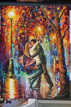The Story Of The Umbrella by Leonid Afremov