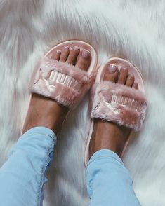 e450277252db Shop Women s Puma Pink size Slippers at a discounted price at Poshmark.  Description  Never worn