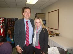 #Lawyer Evan Guthrie with Olesya Matyuchevsky of Citizens Opposed to Domestic Violence at Evan Guthrie Law Firm at the South Carolina Bar Middle School Mock Trial Competition Lowcountry Regional at North Charleston City Hall in North Charleston, SC on Saturday November 15, 2014