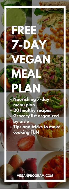 Don't know what to eat to be healthy? I've got your back! Receive our updates by email and receive your FREE 7Day vegan meal plan. Click the image to kickstart your vegan lifestyle!