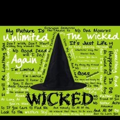 Wicked the Musical quotes amazing. Wicked Quotes, Song Lyrics, Witty Profiles, Theatre Nerds, Arts Theatre, Musical Theatre, Theater, Theatre Quotes, Bffs